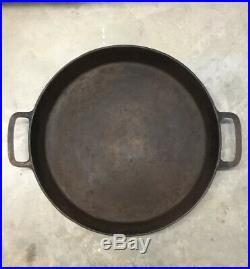 Rare Large Antique Vintage Griswold 20 Inch Cast Iron Skillet/PanNo Cracks