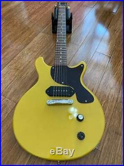 Rare Vintage Greco Mint Collection Era Tv Yellow Double Cut Les Paul Junior Mij