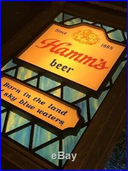 Rare Vintage Hamm's Motion Beer Sign Scene-O-Rama Antique