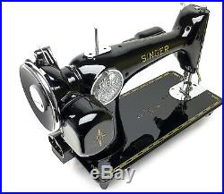 SINGER 201-2 Heavy Duty Sewing Machine 201k Potted Restored & Serviced by 3FTERS
