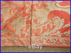 STUNNING Pair Vintage Fortuny Chairs Upholstered Corone Fabric Down Fill Tufted