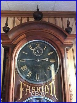 Seth Thomas Antique Blackface Fashion 6 Clock