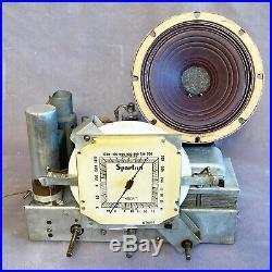 Sparton 557 Sled Cobalt Blue Mirror Radio ART DECO