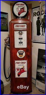 Tokheim 39 Tall Fire Chief Antique vintage Gas Pump