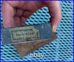 VTG ANTIQUE ESCHER WATER RAZOR HONE SHARPENING STONE GERMANY BARBERS With BOX