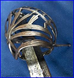 Venetian Schiavona Sword Old Antique Dagger Medieval European Ancient Italian