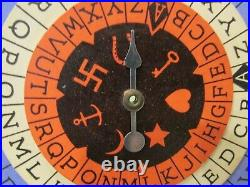 Very RARE Antique 1925 THE MYSTISCOPE Fortune Teller Spinner Wheel Box Halloween