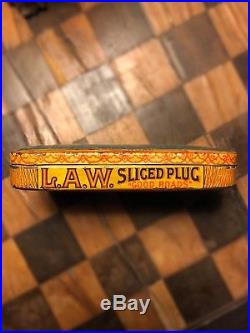 Very Rare Antique L. A. W. League Of American Wheelman Litho Tobacco Tin 1898