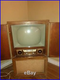 Vintage 1950s Admiral TV Console Antique Set Mid Century Prop Art Television