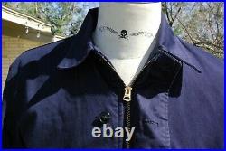 Vintage 1950s Navy Blue N-4 Deck Jacket Size 42R Rare