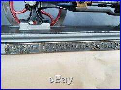 Vintage Antique C. Cretors & Co. Popcorn Machine Steam Engine 1894