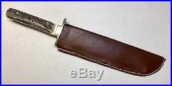 Vintage Antique IXL Geo Wostenholm&Son Sheffield England Bowie Dagger Knife 15L