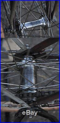 Vintage Colson Flyer Wood Wheel Motor Bike Antique Prewar Bicycle 28 Schwinn Ql