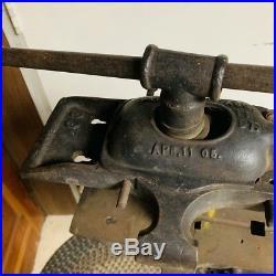 Vintage Emmert Turtleback Pattern Makers Blacksmith Antique Vise