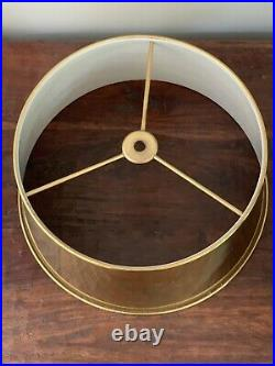 Vintage French Empire Bouillotte Lamp Shade Brass Metal Tole 13 More Avaialble