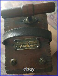 Vintage/antique Sb Blasting Machine #3 Wooden Dynamite Detonator Plunger
