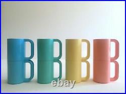 Vtg 1970's Heller Vignelli Rare Pastel Melamine Modernist Dinnerware 19 Pc Set