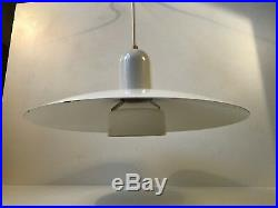 Vtg Danish Modern 70s Minimalist White Lyfa Pendant Lamp Louis Poulsen PH era
