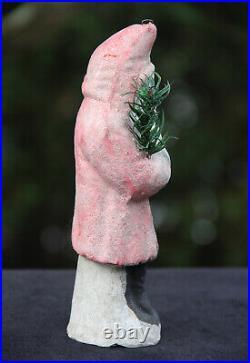 WONDERFUL RARE ANTIQUE PINK GERMAN CHRISTMAS BELSNICKLE c1900