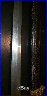 WWII Japanese Army officer's samurai sword antique kai gunto collectible ww2