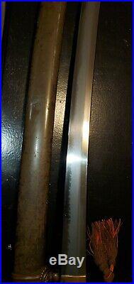 WWII Japanese Army officer's samurai sword antique shin gunto collectible ww2