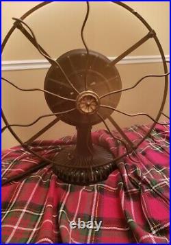 Westinghouse Tesla Antique Brass Blade Fan Works 10 Pole Motor Very Rare