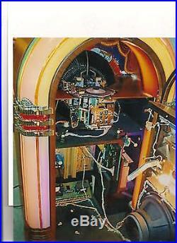 Wurlitzer 1015 Jukebox 200 selections 45rpm Bubbler Antique Apparatus